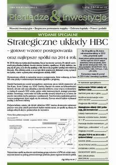 Chomikuj, ebook online Strategiczne układy HBC – gotowe wzorce postępowania oraz najlepsze spółki na 2014 rok. Michał Pietrzyca