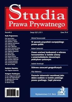 Chomikuj, pobierz ebook online Studia Prawa Prywatnego. Zeszyt 2/2011. Bogudar Kordasiewicz