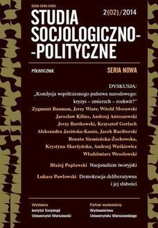 Chomikuj, ebook online Studia Socjologiczno-Polityczne 2014/2 (2). Praca zbiorowa