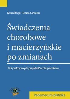 Ebook Świadczenia chorobowe i macierzyńskie po zmianach 2014 pdf