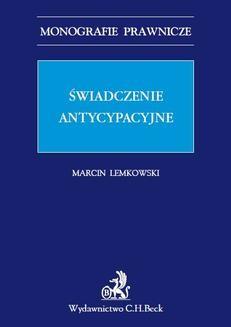Ebook Świadczenie antycypacyjne pdf