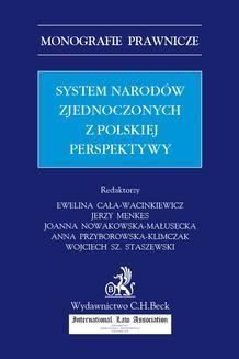Chomikuj, ebook online System Narodów Zjednoczonych z polskiej perspektywy. Opracowanie zbiorowe null