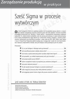 Chomikuj, ebook online Sześć Sigma w procesie wytwórczym. Tadeusz Sałaciński