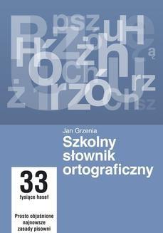Ebook Szkolny słownik ortograficzny pdf