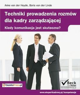 Chomikuj, ebook online Techniki prowadzenia rozmów dla kadry zarządzającej. Anke von der Heyde