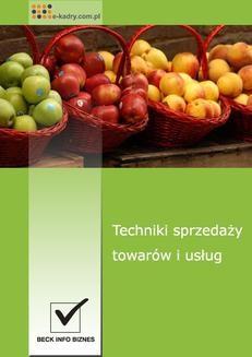 Chomikuj, ebook online Techniki sprzedaży towarów i usług. Magdalena Dąbrowska