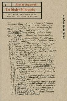Chomikuj, ebook online Ten biedny Mickiewicz…. Antoni Ostrowski