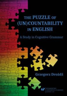 Ebook The Puzzle of (Un)Countability in English. A Study in Cognitive Grammar pdf