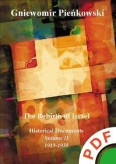 Ebook The Rebirth of Israel. Historical Documents. Volume II: 1919-1939. pdf