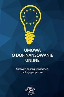 Chomikuj, ebook online Umowa o dofinansowanie unijne. Praca zbiorowa