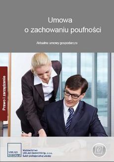 Chomikuj, ebook online Umowa o zachowaniu poufności. Aktualne umowy gospodarcze. Zespół autorów