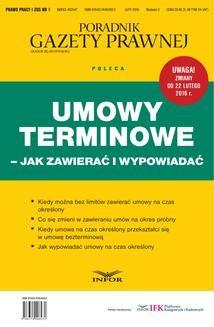Chomikuj, ebook online Umowy terminowe – jak zawierać i wypowiadać. INFOR PL SA