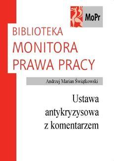 Chomikuj, ebook online Ustawa antykryzysowa z komentarzem. Andrzej Marian Świątkowski