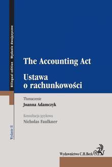 Chomikuj, ebook online Ustawa o rachunkowości. The Accounting Act. Joanna Adamczyk