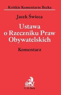 Chomikuj, ebook online Ustawa o Rzeczniku Praw Obywatelskich. dr Jacek Świeca
