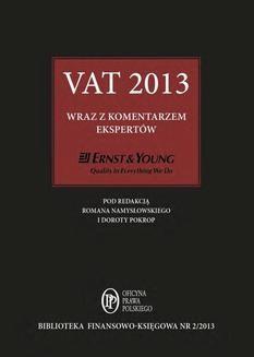 Chomikuj, ebook online VAT 2013 wraz z komentarzem ekspertów Ernst & Young. Praca zbiorowa