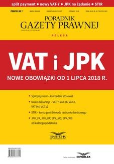 Chomikuj, ebook online VAT i JPK Nowe obowiązki od 1 lipca 2018 r. zbiorowa Praca