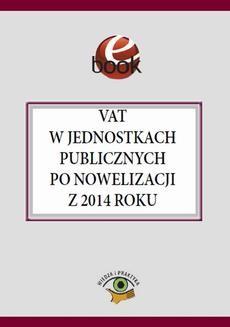 Chomikuj, ebook online VAT w jednostkach publicznych po nowelizacji z 2014 roku. Jakub Kolski