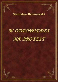 Ebook W Odpowiedzi Na Protest pdf