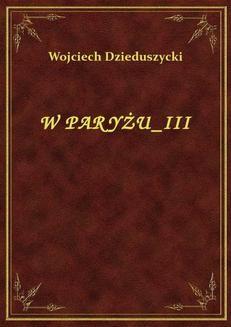 Ebook W Paryżu III pdf