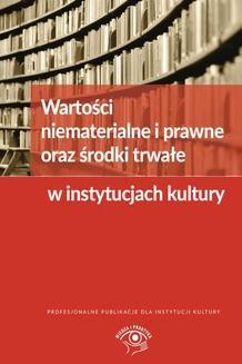 Chomikuj, ebook online Wartości niematerialne i prawne oraz środki trwałe w instytucjach kultury. Grzegorz Magdziarz