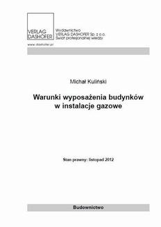 Ebook Warunki wyposażenia budynków w instalacje gazowe pdf