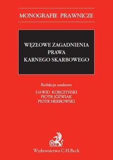 Ebook Węzłowe zagadnienia prawa karnego skarbowego pdf