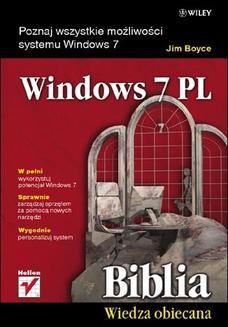 Chomikuj, ebook online Windows 7 PL. Biblia. Jim Boyce