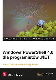 Ebook Windows PowerShell 4.0 dla programistów .NET pdf