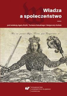 Chomikuj, ebook online Władza a społeczeństwo. red. Agata Bryłka