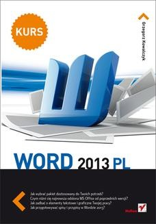 Ebook Word 2013 PL. Kurs pdf