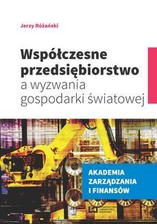 Ebook Współczesne przedsiębiorstwo a wyzwania gospodarki światowej pdf