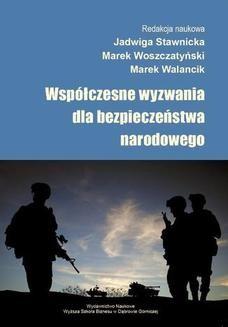 Chomikuj, ebook online Współczesne wyzwania dla bezpieczeństwa narodowego. Jadwiga Stawicka