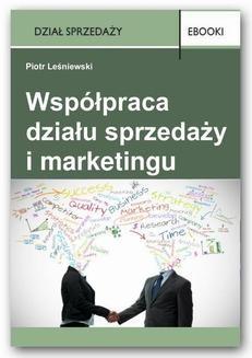 Chomikuj, ebook online Współpraca działu sprzedaży i marketingu. Piotr Leśniewski
