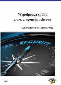 Chomikuj, ebook online Współpraca spółki z o.o. z agencją ochrony. Krzysztof Tomaszewski