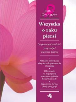 Chomikuj, ebook online Wszystko o raku piersi. Ruth H. Grobstein