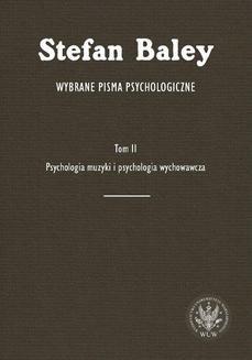 Ebook Wybrane pisma psychologiczne. Tom 2 pdf