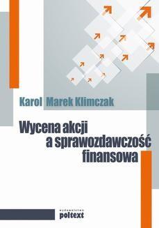 Chomikuj, ebook online Wycena akcji a sprawozdawczość finansowa. Karol M.Klimczak