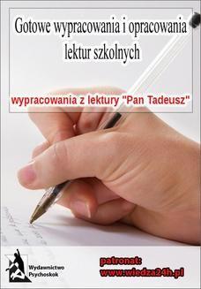 """Chomikuj, ebook online Wypracowania. Adam Mickiewicz """"Pan Tadeusz. Praca zbiorowa"""