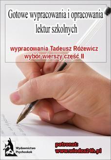 """Ebook Wypracowania – Tadeusz Różewicz """"Wybór wierszy – część II"""" pdf"""