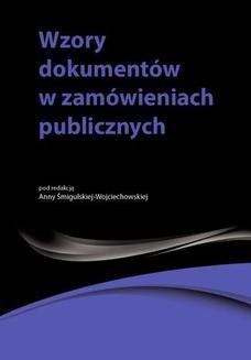 Ebook Wzory dokumentów w zamówieniach publicznych pdf
