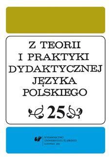 Chomikuj, ebook online Z Teorii i Praktyki Dydaktycznej Języka Polskiego. T. 25. red. Danuta Krzyżyk