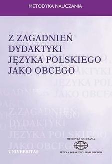 Chomikuj, pobierz ebook online Z zagadnień dydaktyki języka polskiego jako obcego. Ewa Lipińska