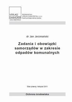 Ebook Zadania i obowiązki samorządów w zakresie odpadów komunalnych pdf