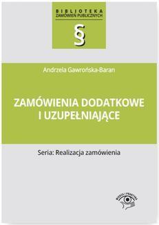 Chomikuj, ebook online Zamówienia dodatkowe i uzupełniające. Andrzela Gawrońska-Baran