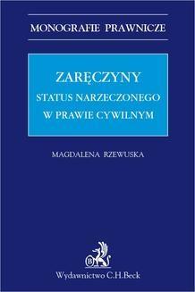 Chomikuj, ebook online Zaręczyny. Status narzeczonego w prawie cywilnym. Magdalena Rzewuska