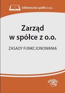 Chomikuj, ebook online Zarząd w spółce z o.o. Zasady funkcjonowania. Praca zbiorowa