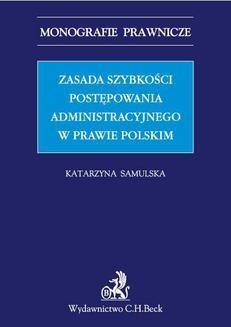 Ebook Zasada szybkości postępowania administracyjnego w prawie polskim pdf
