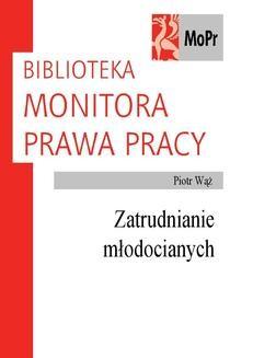 Chomikuj, ebook online Zatrudnianie młodocianych. Piotr Wąż