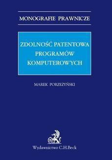 Ebook Zdolność patentowa programów komputerowych pdf